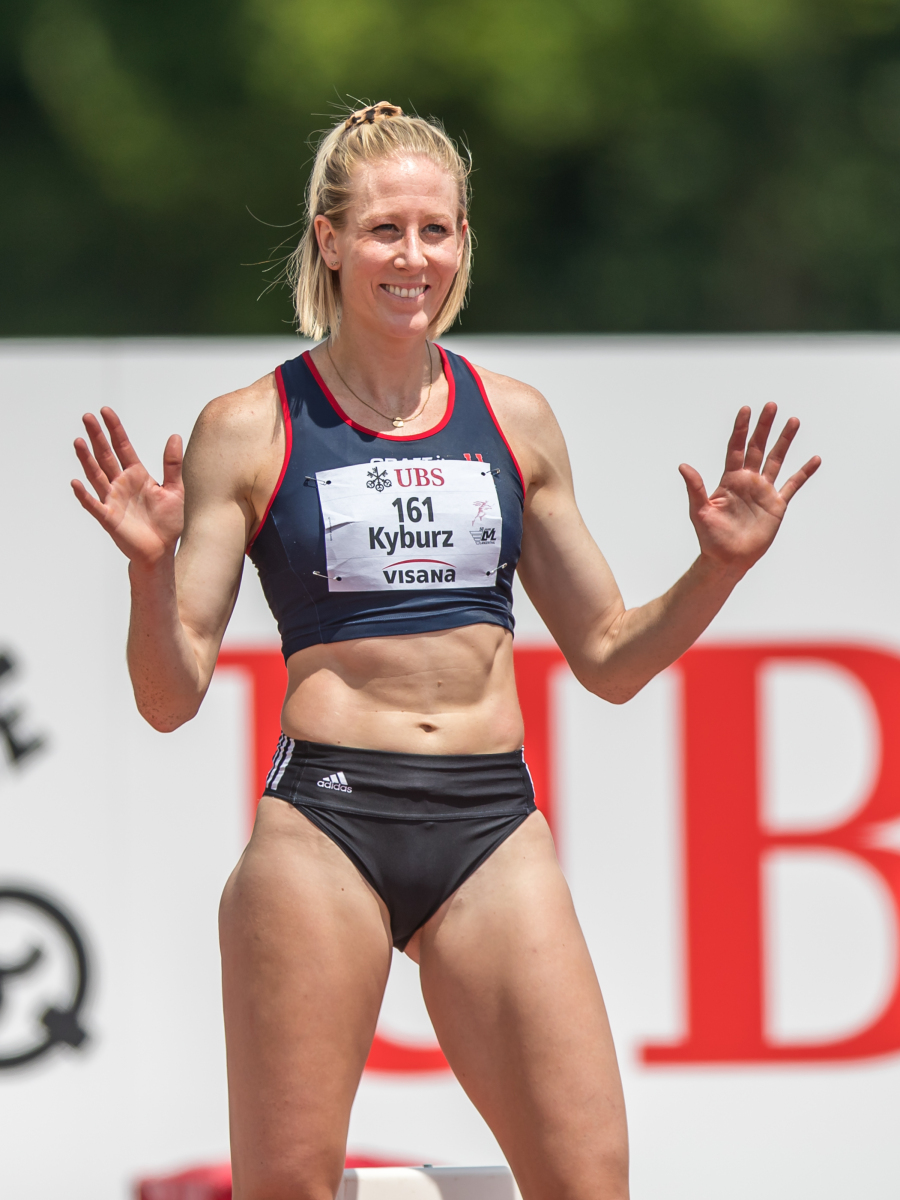 Kyburz Daniela (LAC TV Unterstrass Zuerich, SUI, #161)bei den Schweizer Meisterschaften in Langenthal, am Sonntag, 27. Juni 2021 (ATHLETIX.CH/ULF SCHILLER)