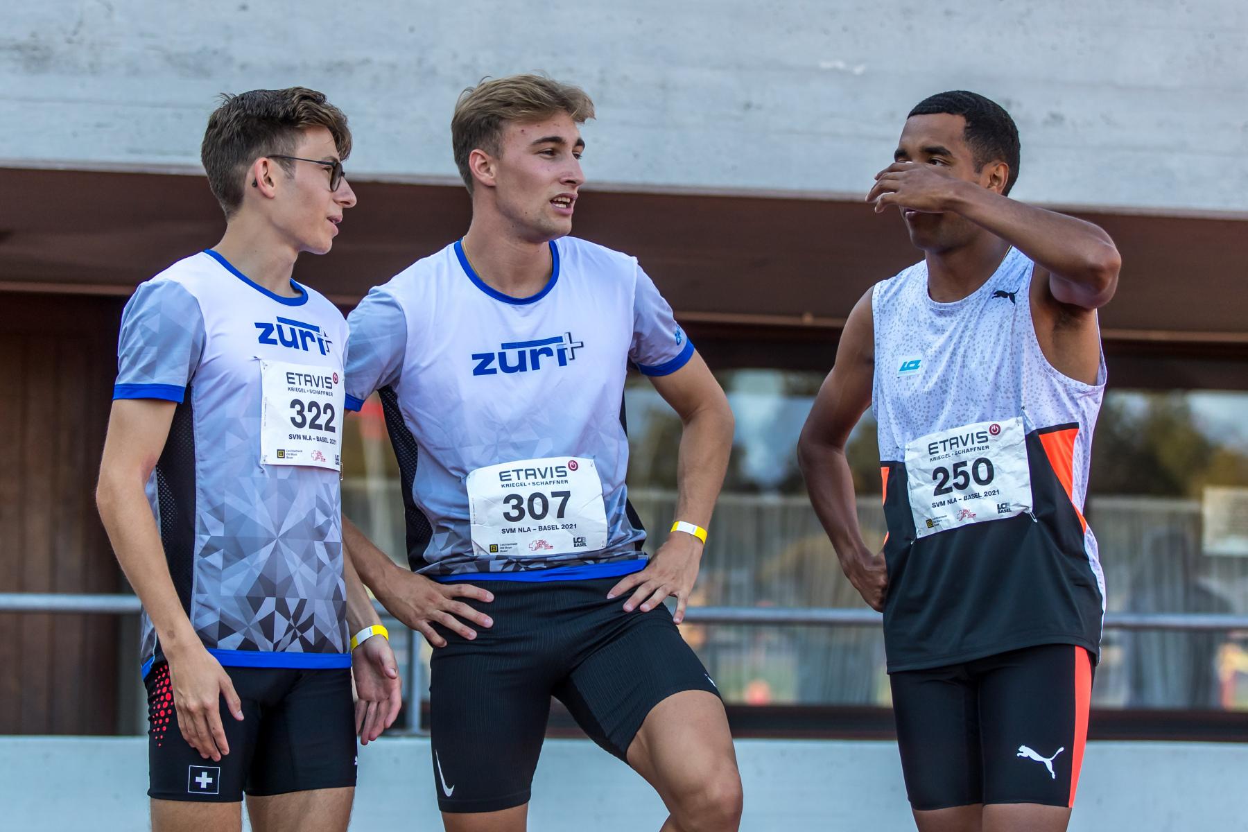 Lionel Spitz  (LG Zueri+, 322) ,  Martin Fuchs  (LG Zueri+, 307) ,  William Jeff Reais  (Leichtathletik Club Zuerich, 250)  at the Swiss Interclub Championship on Saturday, 18.09.2021